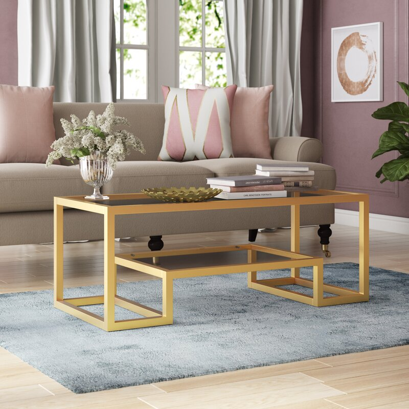 Imel Frame Gold Coffee Table