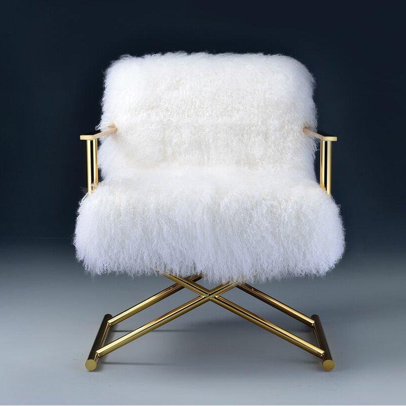 Kole Gold & White Armchair