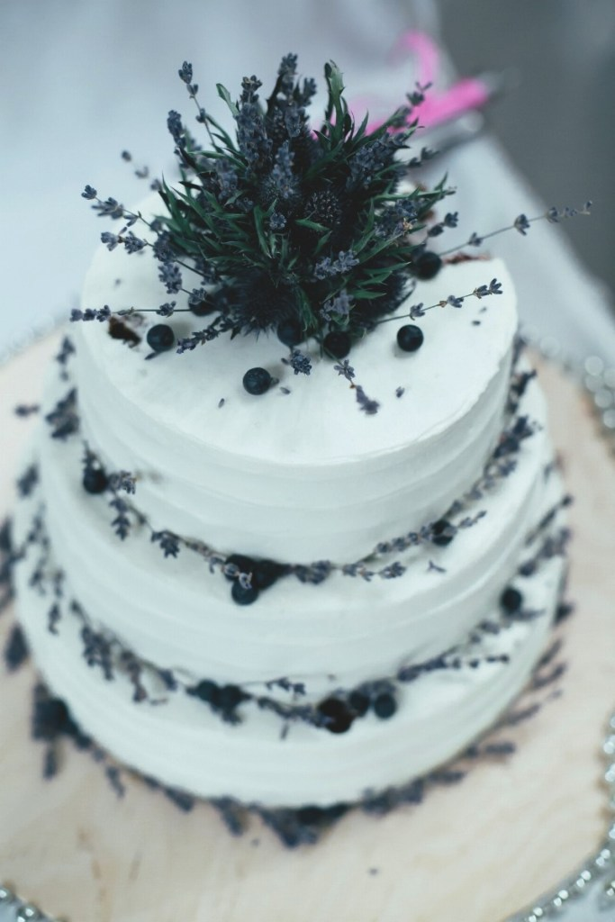 Lavender Sprigs Wedding Cake