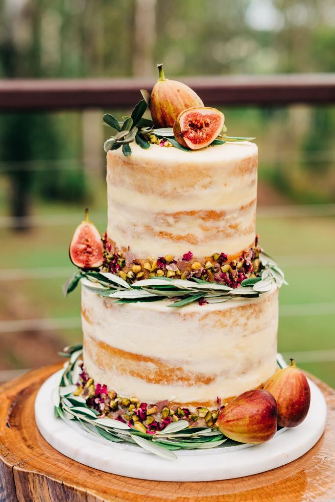 Nearly Naked Fig Wedding Cake