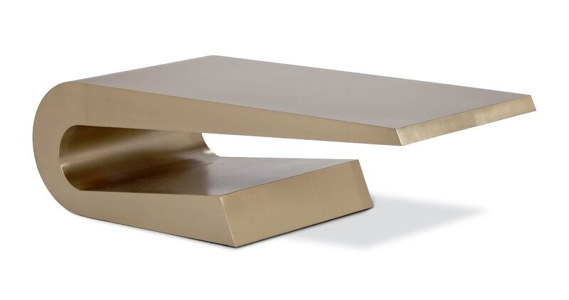 Orren Ellis Teter Gold Coffee Table