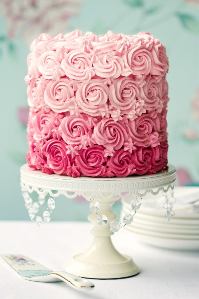Pink Birthday Cake - Ombre Cake
