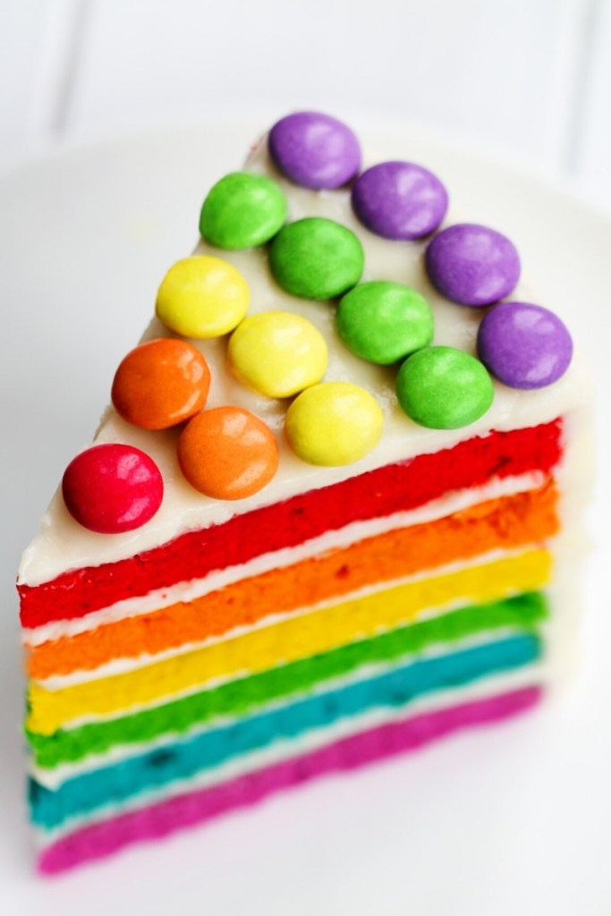 Rainbow Candy Birthday Cake