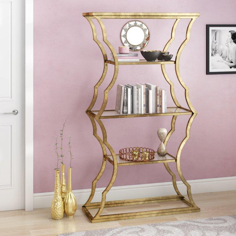 Roy Etagere Gold Bookcase
