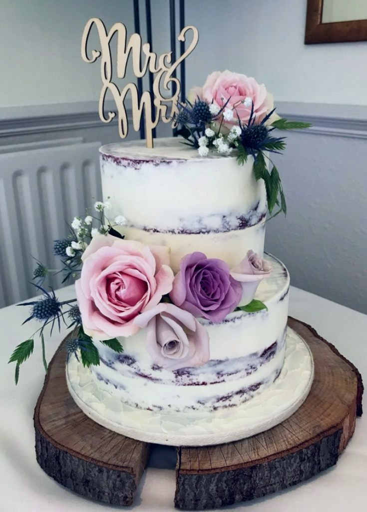 Red Velvet Semi-Naked Wedding Cake from Sasselina Sweets