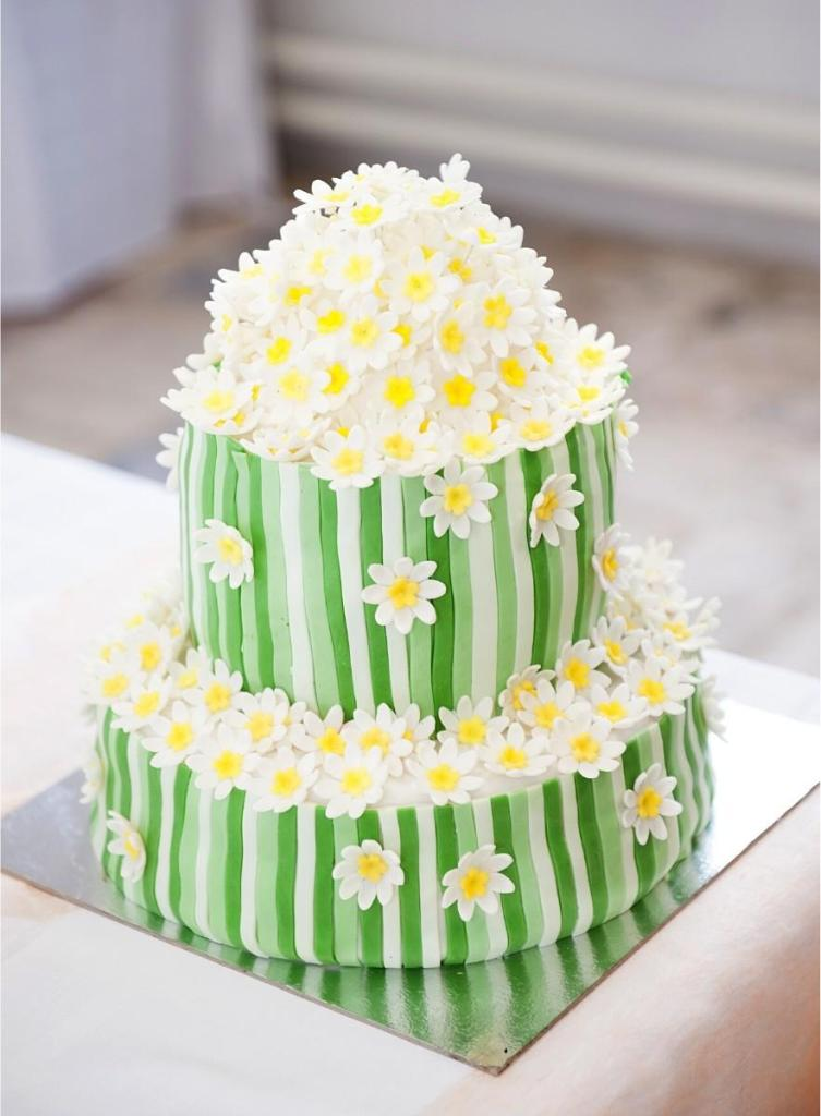 Spring Bounty Wedding Cake