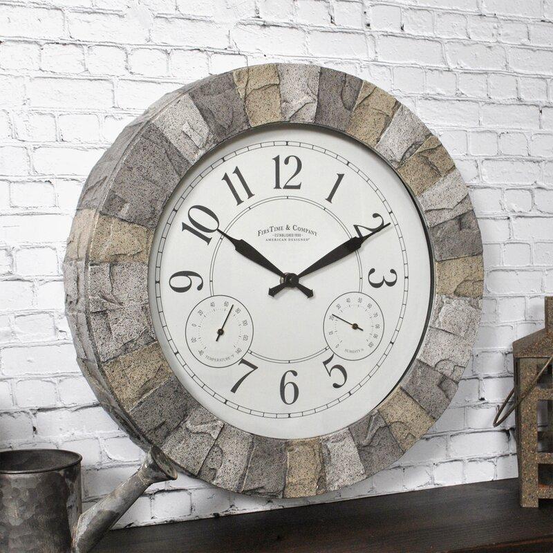 """Stoneybrook Outdoor 14"""" Wall Clock"""