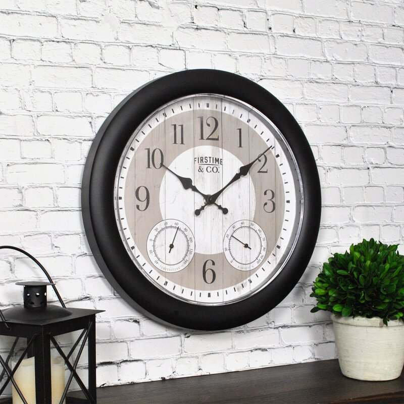 Summer Cottage Farmhouse Style Planks Outdoor Wall Clock