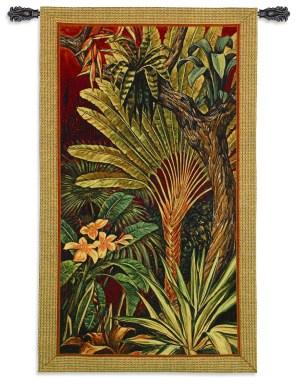 Bali Garden II | Tropical Botanical Tapestry | 60 x 35