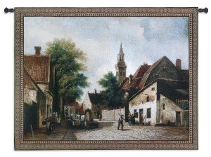 Cobblestone Way by Riccardo Bianchi | Classic Wall Tapestry | 40 x 53
