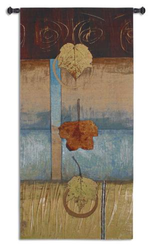 Free Fall I | Earth Tone Art Tapestry | 63 x 29