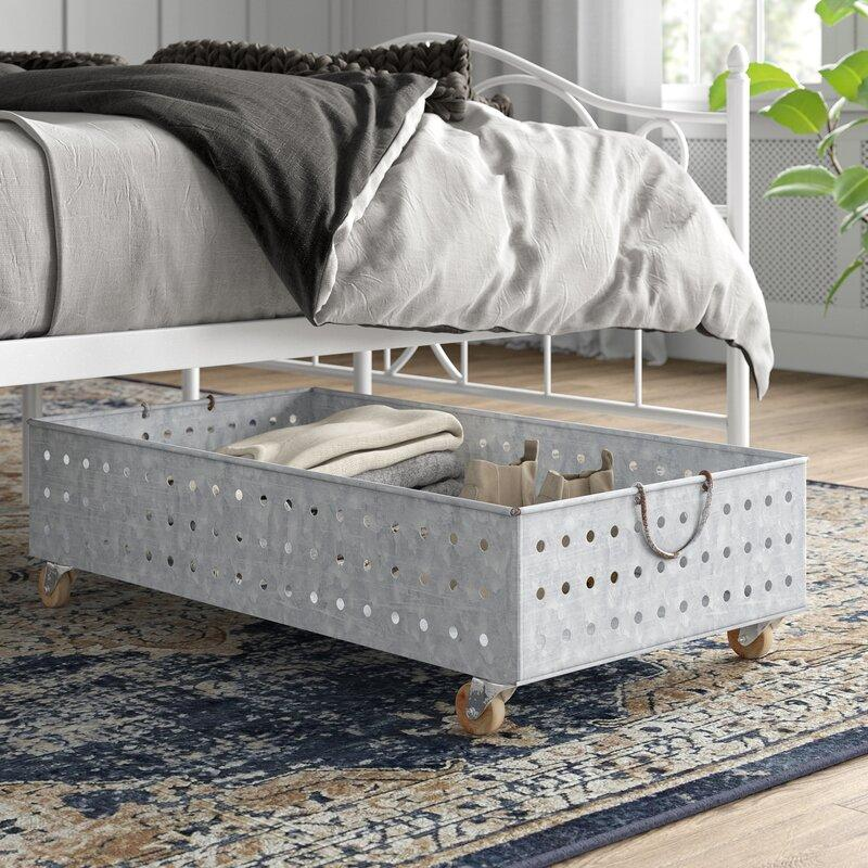 Galvanized Metal Rolling Underbed Storage