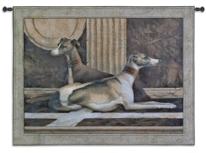 Greyhound Fresco | Tapestry Wall Hanging | 42 x 53
