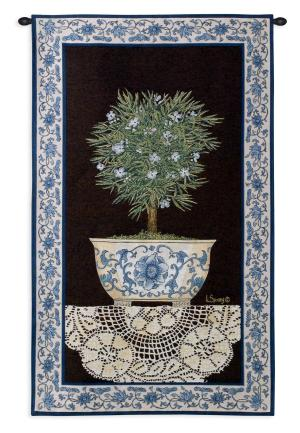 Ivy Topiary II | French Country Wall Tapestry | 43 x 26