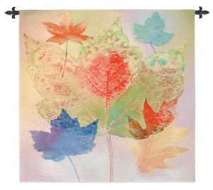 Leaf Chrome | Contemporary Tapestry | 53 x 53