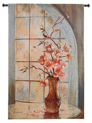 Magnolia Arch II | Woven Floral Tapestry Wall Hanging | 53 x 34