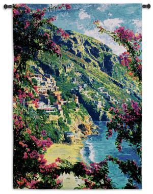 Positano | Amalfi Coast | Woven Tapestry | 53 x 37
