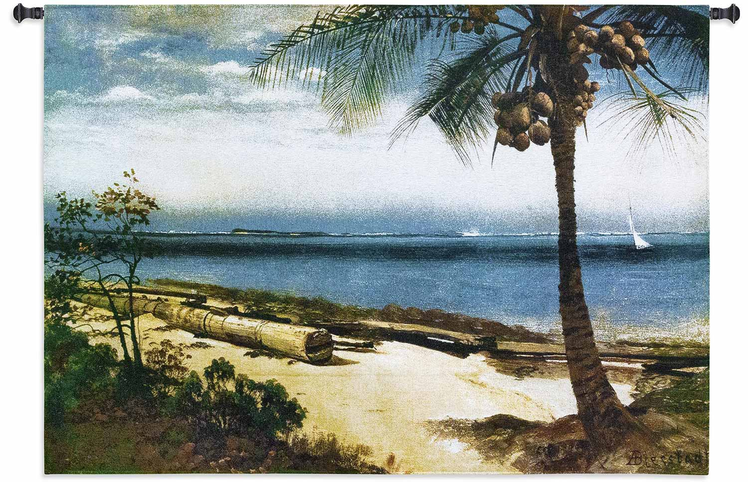 Tropical Coast 53 X 37 Tapestry Art Home