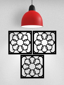 Wrought Iron Art Tiles 3 The Same
