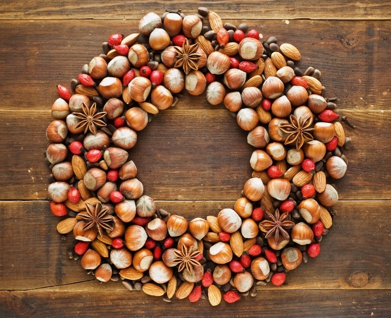 Acorn and Star Anise Wreath