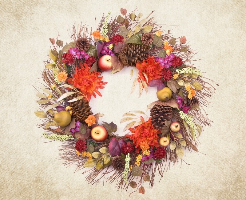 Fall Fruit Wreath