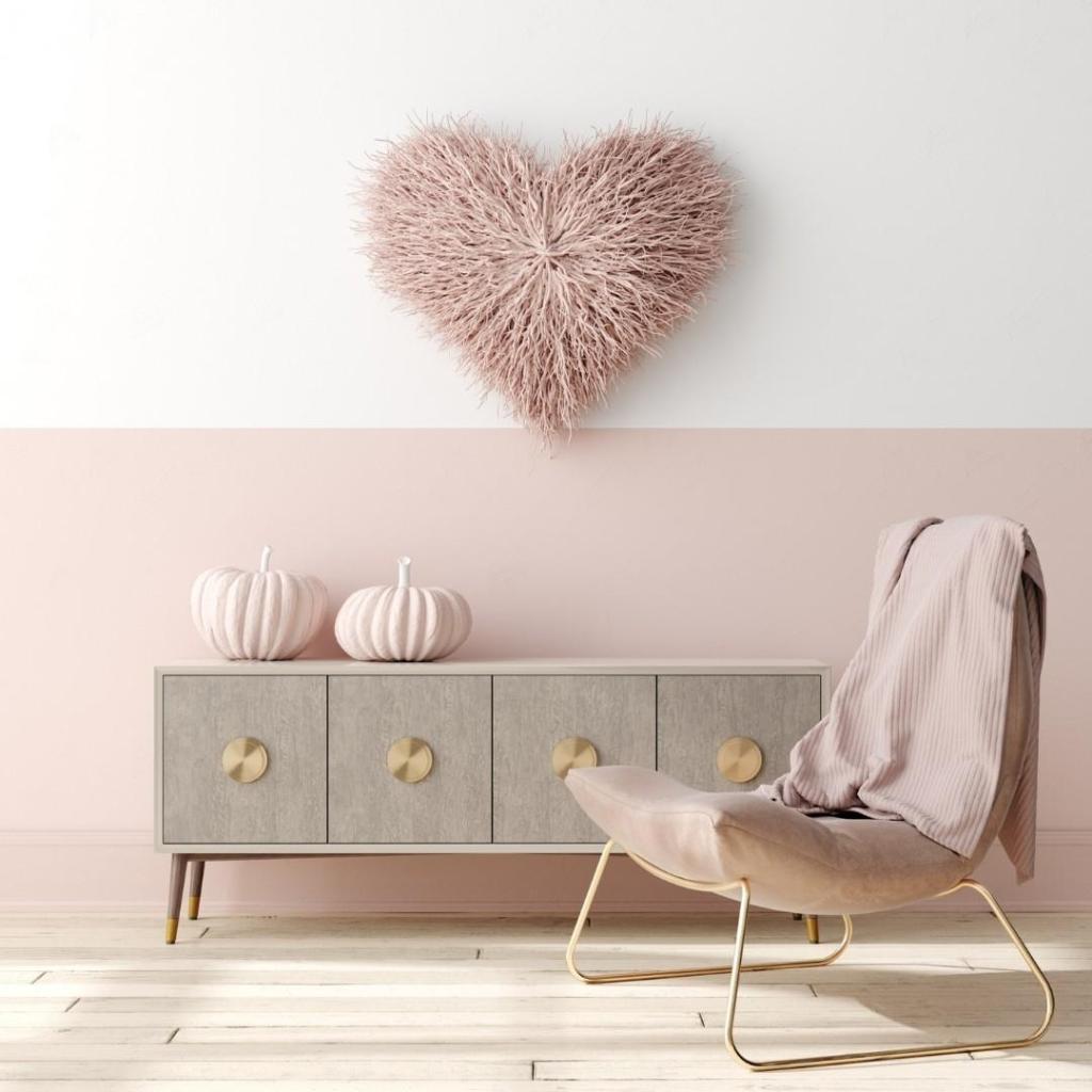 Pink Pumpkin and Heart Fall Decor