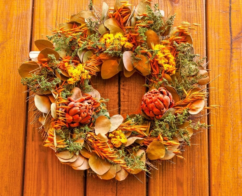 Warm Orange Fall Wreath