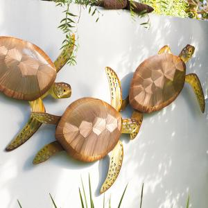 Sea Turtle Trio Metal Wall Art