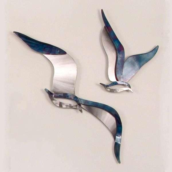 Seagulls Metal Wall Art Set