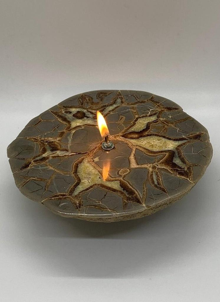 Septarian Dragon Stone Rock Candle