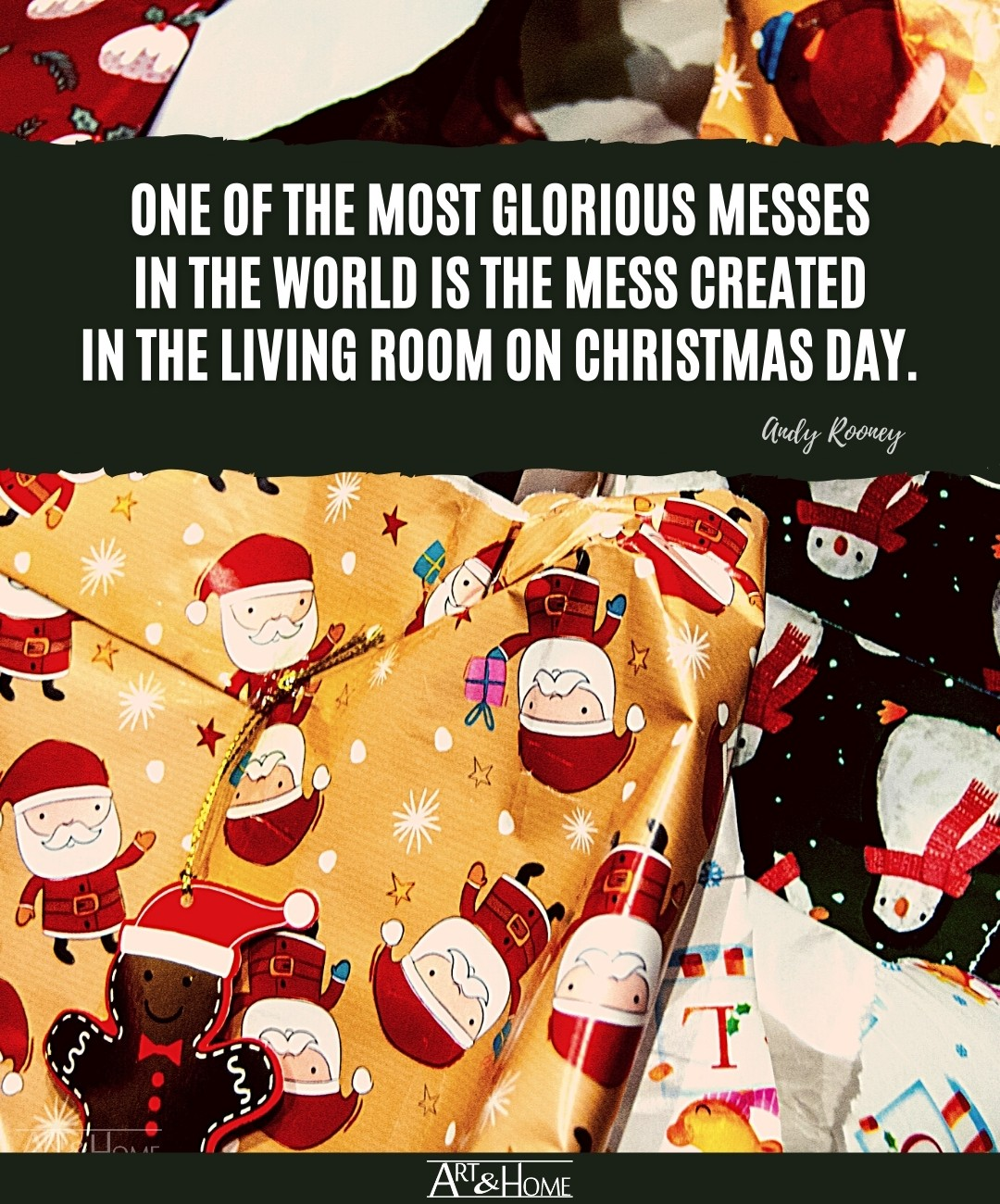 Andy Rooney Christmas Mess Quote