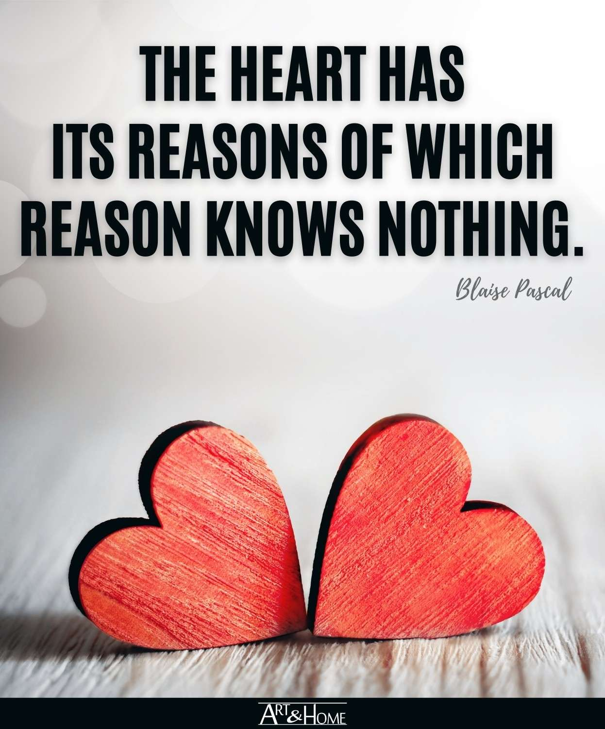 Blaise Pascal Quote About the Heart