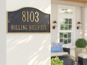Decorative House Number Plaque