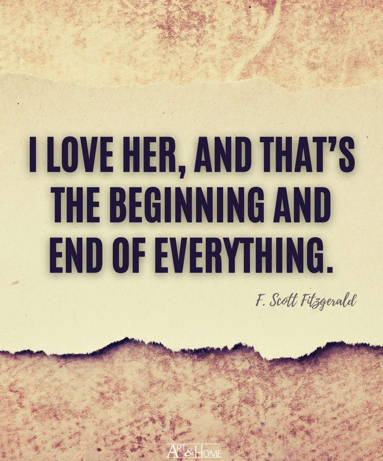 F. Scott Fitzgerald ​​Love Quote for Her