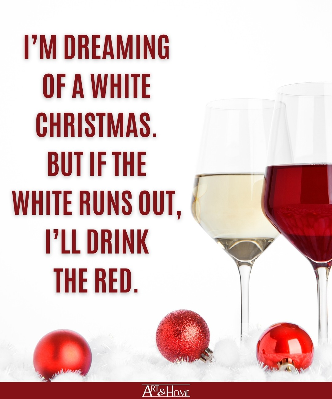 Funny Christmas Quote About Wine