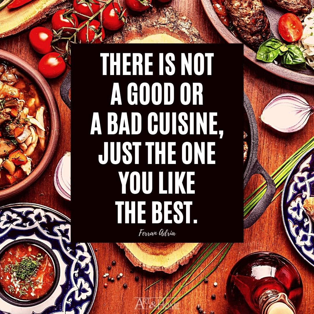 There is not a good or a bad cuisine, just the one you like the best.