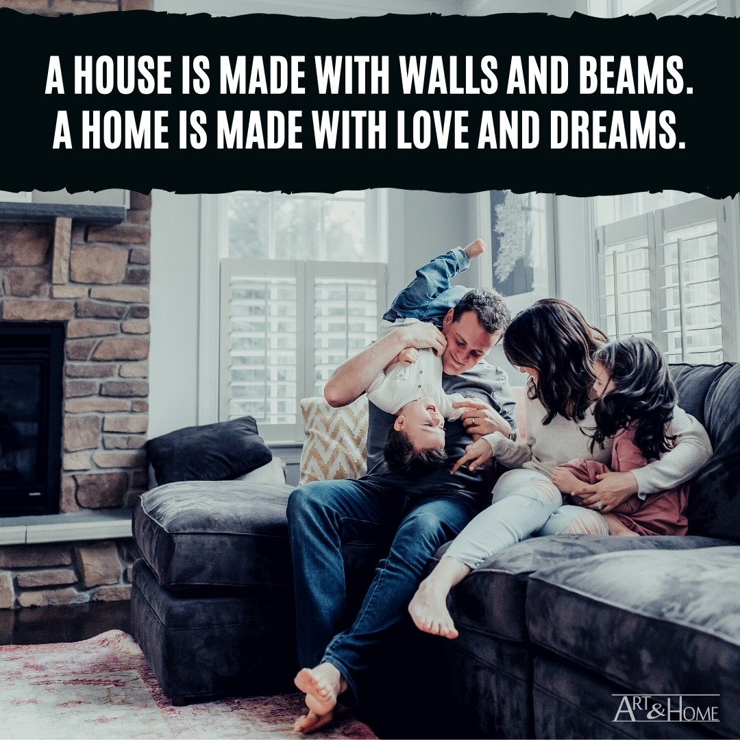 A house is made with walls and beams quote meme