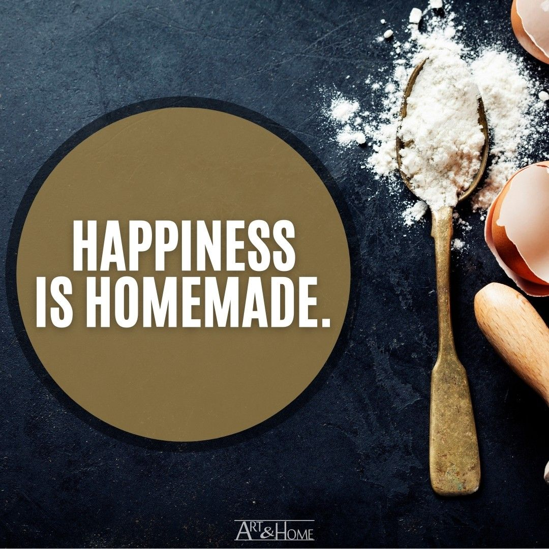 Happiness is Homemade quote