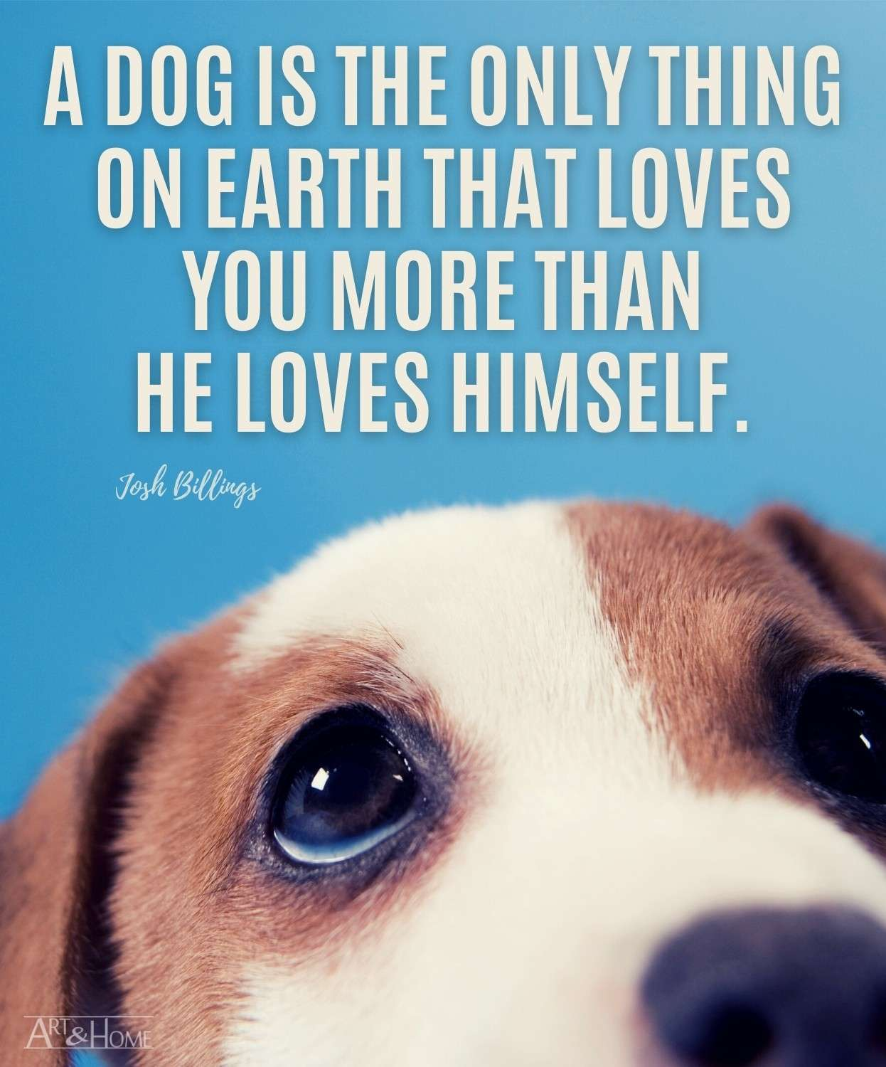 Josh Billings Dog Love Quote