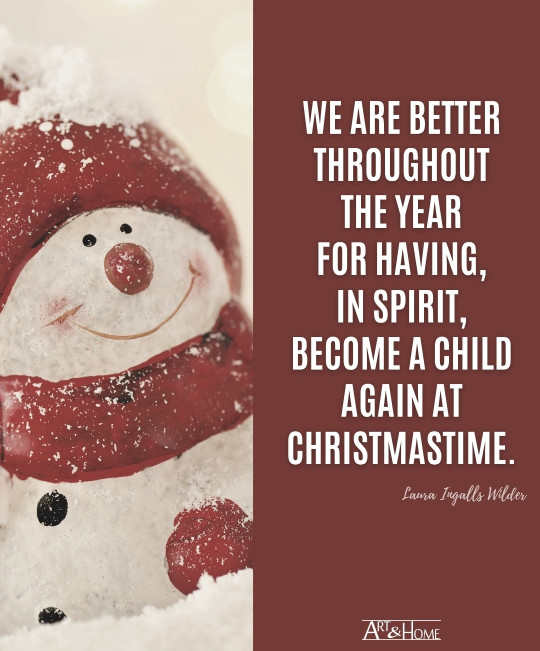 Laura Ingalls Wilder Christmas Quote