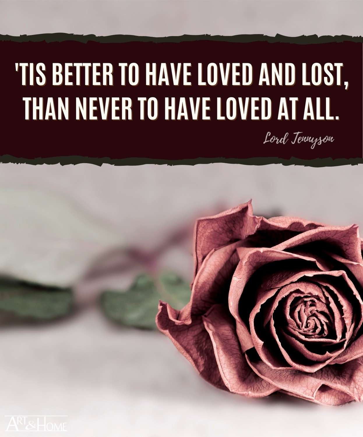 Lord Tennyson Loved and Lost Quote