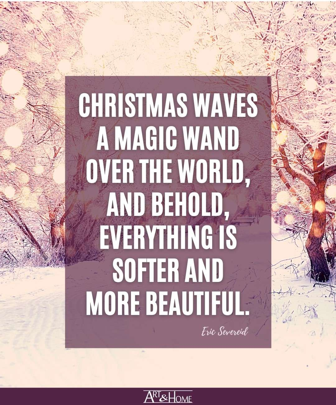 Norma Vincent Peale Christmas Magic Wand Quote
