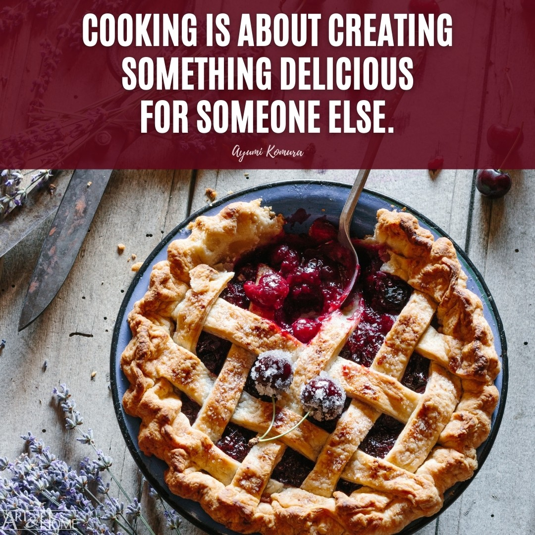 Cooking is about creating something delicious for someone else. Ayumi Komura quote.