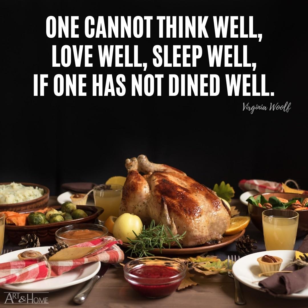 Virginia Woolf Food Quote