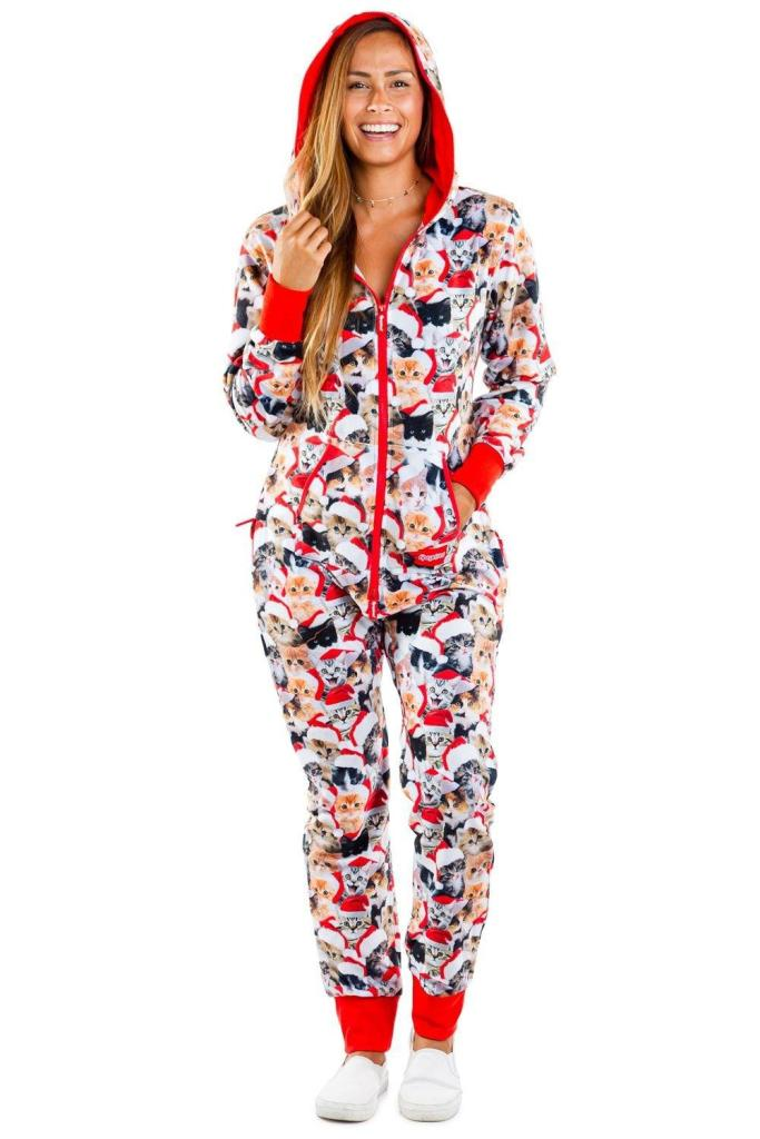 Women's Christmas Cat Onesie