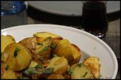 Roasted Potatoes In Golden Garlic Sauce