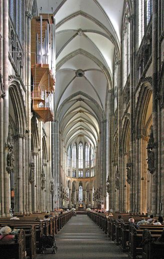 Cologne (Germany) Cathedral. Pointed arches allowed architects to build taller, airier structures.
