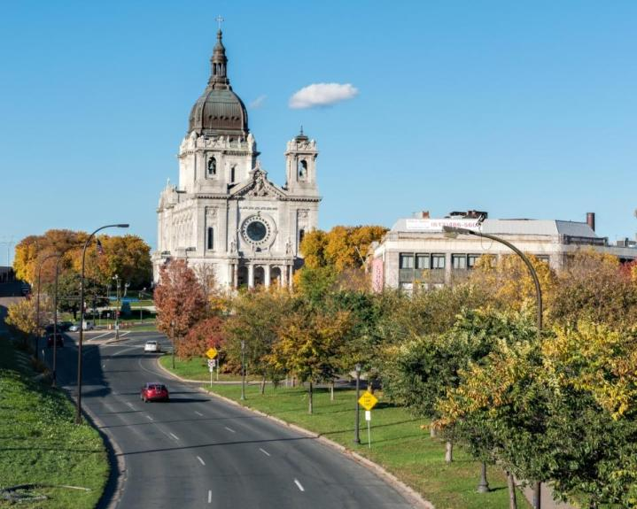 Basilica of St. Mary (Minneapolis, MN). Exterior view. Photo provided by parish.
