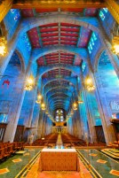 Cathedral of Mary our Queen (Baltimore, MD). Nave facing rear. Photo by Alex Lowitt, provided by parish.