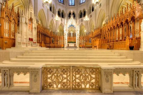 Cathedral of the Sacred Heart (Newark, NJ). Sanctuary and choir. By Bestbudbrian - Own work, CC BY-SA 4.0, Link